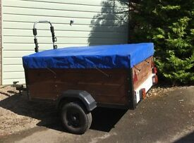 """Trailer - Steel Framed 5' x 3'6"""" recent tyres & electrics with cover"""