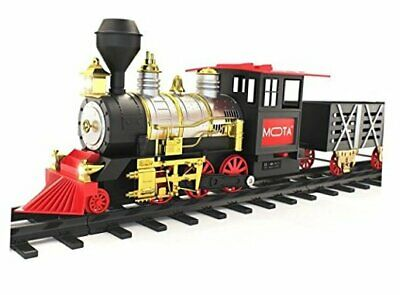 Classic Holiday Christmas Train Set with Real Smoke - Authentic Lights, and Sou