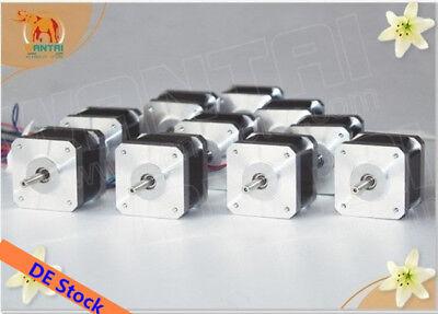 Eu Free 10pcs Wantai Nema17 Stepper Motor 0.9 42byghm810 4200g.cm 48mm 2.4a