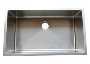 Single Bowl Handmade Sink 32x19x10 - BRAND NEW, Warranty,