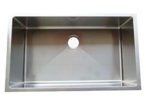Single Bowl Handmade Sink 32x19x10 - BRAND NEW, Warranty,