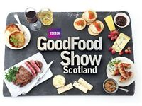 3x BBC Good Food Show tickets Glasgow 21/10/2017 with super theatre seats for Tom Kerridge