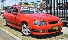 2004 Ford Falcon BA Mk II XR6 Red 4 Speed Sports Automatic Sedan Minchinbury Blacktown Area Preview