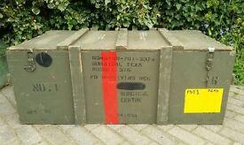 Large Vintage Army Crate