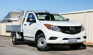 2014 Mazda BT-50 UP0YD1 XT 4x2 White 6 Speed Manual Cab Chassis Wangara Wanneroo Area Preview