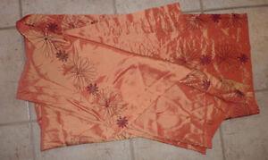 Orange satin curtain (one panel) Kitchener / Waterloo Kitchener Area image 1