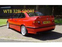 WANTED BMW 328i Sport E36 Manual