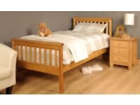 Solid wood single bed £50