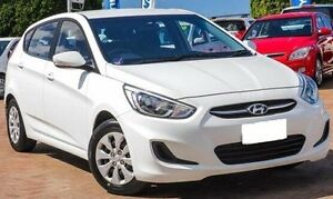 2013 Hyundai Accent RB Active White 4 Speed Sports Automatic Hatchback Embleton Bayswater Area Preview