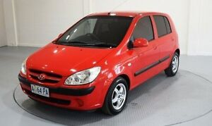 2007 Hyundai Getz TB MY06 Red 4 Speed Automatic Hatchback Invermay Launceston Area Preview
