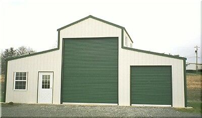 American Barn--all Galvanized Steel Insulated Building - Garage-metal