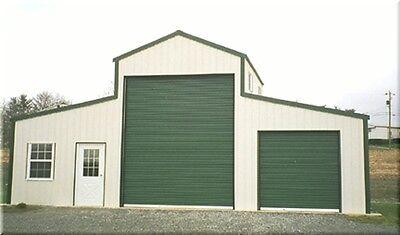 American Barn--all Galvanized Steel Insulated Building - Garage-metal