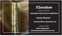 Unité mobile soudure/fabrication/reparation/modification