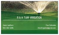 Underground sprinkler installation and maintenance
