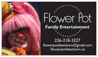 Flower Pot  the Clown Family Entertainment for your Party fun!
