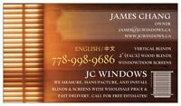 JC Windows - Blinds and Screens