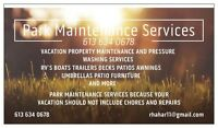 Park maintenance and pressure washing services