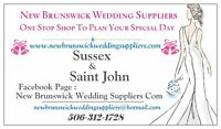 Saint John Wedding Photographers, Officiants, DJ, Bridal Shop,
