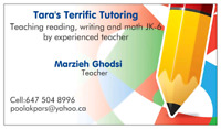 Tutoring reading ,writing and math K to 6