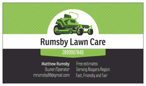Residential grass cutting- Rumsby lawn care