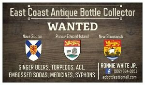 EAST COAST ANTIQUE BOTTLES WANTED