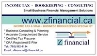 Z FINANCIAL INCOME TAX & BOOKKEEPING SERVICES
