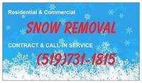SNOW REMOVAL DEALS