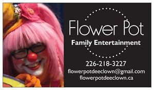 Flower Pot  the Clown Family Entertainment for your Party fun! Cambridge Kitchener Area image 1