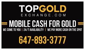 MOBILE CASH FOR GOLD & DIAMONDS . WE COME TO YOU & PAY THE MOST