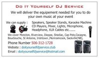 Moncton DJ Rental Do It Yourself DJ Service Any Events