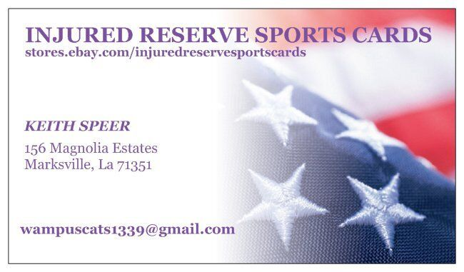 Injured Reserve Sports Cards