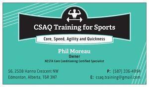 CSAQ Training for Sports