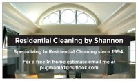 St Vital cleaning lady has 1 Weekly space available