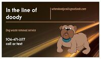 Dog poop removal service- make your dogs business ours