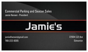 Jamie's Parking and Seacan Sales...