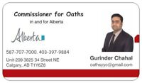 Commissioner of Oaths - 403-397-9884