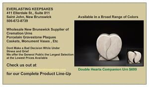 WE ARE A LEADING CANADIAN SUPPLIER OF COMPANION CREMATION URNS St. John's Newfoundland image 1