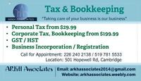 Corporate tax return starts at $199.99 only