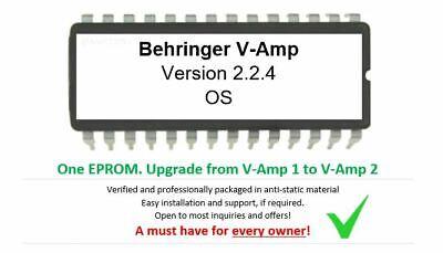 Behringer V-Amp v1 to v2 OS 2.2.4 EPROM Firmware Upgrade KIT for Vamp Guitar FX, usado comprar usado  Enviando para Brazil