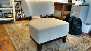 Comfy Modern Armless Chair (large, deep seat)