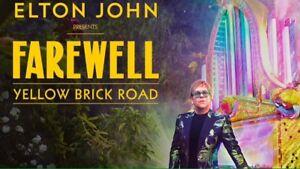 2 tickets for Elton Johns Farewell Tour in Ottawa