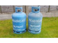 BUTANE GAS BOTTLES, READY GAS 13KG EMPTY GAS BOTTLES X 2