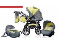Junior Twist Pram Pushchair Travel System 3 in 1 from Baby Merc