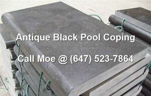 Antique Black Pool Coping Antique black Bull Nose Coping Capping