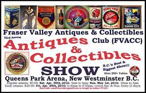 FVACC Antiques & Collectibles Show: Fri-Sun Apr 29-30th & May 1