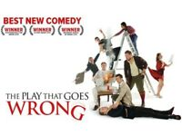 At Cardiff, New Theatre - The Play That Goes Wrong - 2 x Second Row Tickets