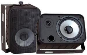 Pyle PDWR50B 500W 6.5 Indoor/Outdoor Waterproof Speakers - Black - Pair - PDWR50B