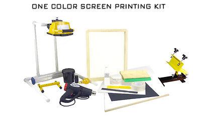 Screen Printing Press One 1 Color1station Heat Gun Exposure Stand Equipment Kit
