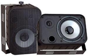 Pyle PDWR50B 500W 6.5'' Indoor/Outdoor Waterproof Speakers - Bla