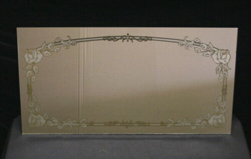 "14""x27"" Vintage Floral Design Ornate Decorative Etched Glass Mirror Wall Decor"